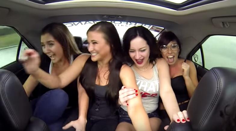 Πέντε κυρίες, ένας οδηγός και μία Cadillac CTS-V Supercharged 800 hp