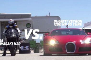 Η κόντρα του αιώνα: Kawasaki Ninja H2R VS Bugatti Veyron SS